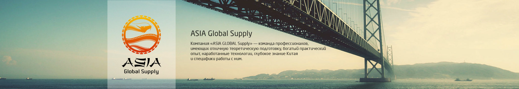 Создание сайта для компании Asia Global Supply